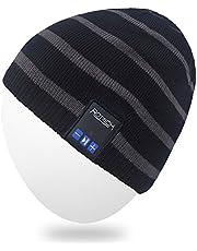 MYDEAL Winter Männer Frauen Wireless Bluetooth Mütze Hut Kappe mit Stereo Kopfhörer Lautsprecher Kompatibel mit iPhone Android Handys für Gym Ski Snowboard Laufen Skaten Wandern