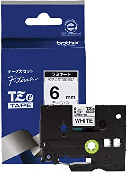 1Pack 6mm Black on White TZ 211 TZe211 0.24/'/' Label Tape For Brother P-touch