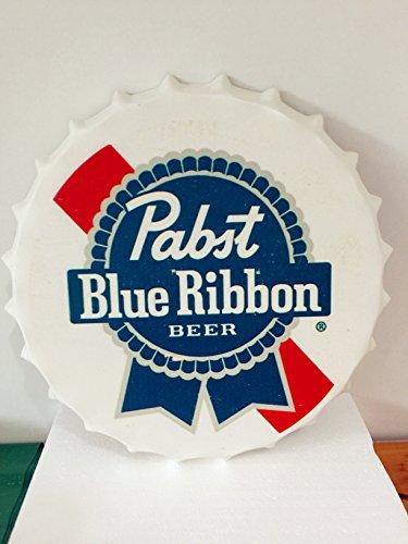 t-ray-35cm-new-rare-vintage-pabst-blue-ribbon-pbr-beer-metal-tin-wall-bar-sign-rm-59