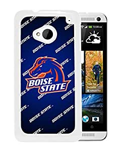 NCAA Boise State Broncos 14 White Hard Shell Phone Case For HTC ONE M7