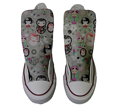 Matrilu Schuhe personalisierte Handwerk Converse All Star Schuhe Hi Customized TR8qP