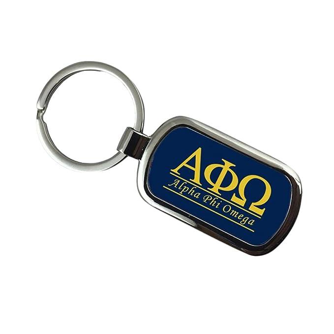 Amazon Alpha Phi Omega Chrome Custom Keychain Clothing