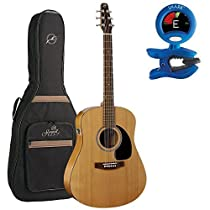 Seagull S6 Original QI Acoustic Guitar With Gig Bag and Snark Tuner