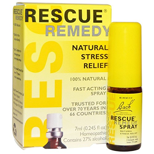 Bach Flower Remedies - Rescue Remedy Spray, 7 Milliliter - 3 per case.