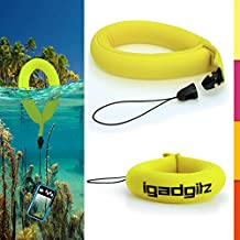 iGadgitz 1 Pack Neon Yellow Waterproof Floating Wrist Strap suitable for use with Fujifilm FinePix XP Series Tough XP10, XP20, XP30, XP50, XP51, XP60 & XP80 Cameras