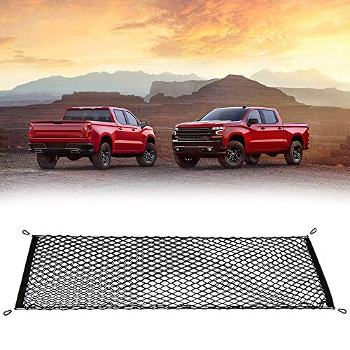 Thie2e Cargo Net Stretchable Truck Net for Chevy Silverado 2014 2015 2016 2017 2018 2019