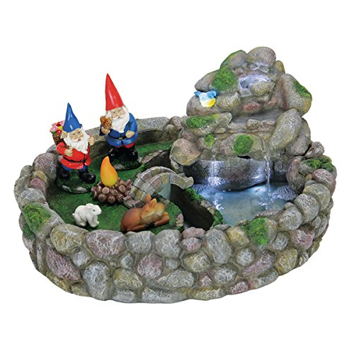 Resin AC Powered Gnome Fountain Kit With LEDs by Unknown Exhart