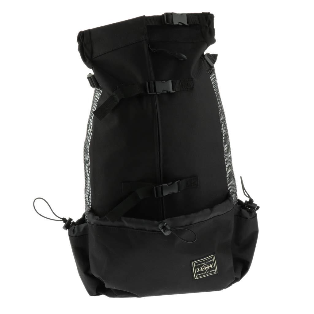 Black L D DOLITY Pet Carrier, Dog Backpack Bag Free Your Hands Dog Carrier, Cat Carrier for Small Pets Black L