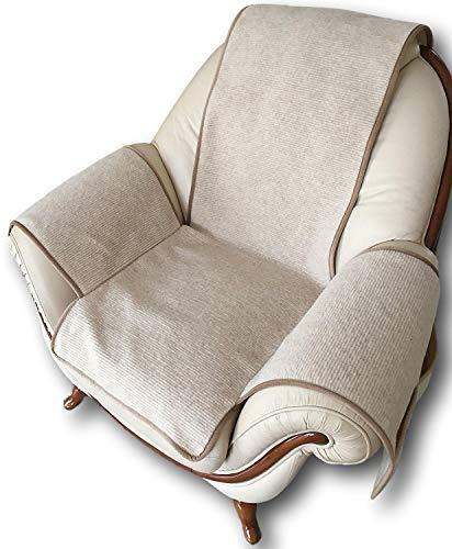 Alpenwolle Óptica de Onda para sillón en Beige, 100% Lana ...