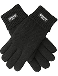 EEM touchscreen gloves for men LASSE-IP with Thinsulate thermal lining 100% wool, black L
