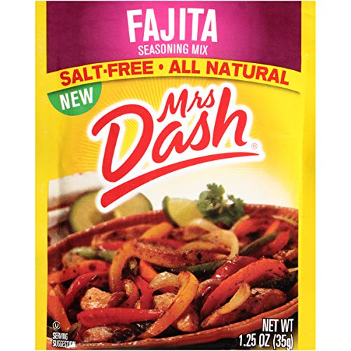 Mrs. Dash Seasoning Mix, Fajita, 1.25 Ounce (Pack of 12) ()