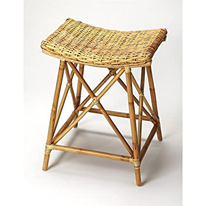 Pleasing Amazon Com Beaumont Lane 24 Rattan Counter Stool In Light Squirreltailoven Fun Painted Chair Ideas Images Squirreltailovenorg