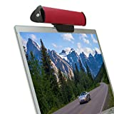 GOgroove SonaVERSE USB Laptop Clip On Speaker (Red) w/ USB Plug-n-Play Sound Bar Design for Netbooks, Notebooks, Ultrabooks & More - Incl. Microfiber Cleaning Cloths