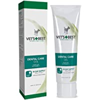 Vet's Best Enzymatic Dog Toothpaste Teeth Cleaning and Fresh Breath Dental Care Gel, Yellow/White, 3.5 oz