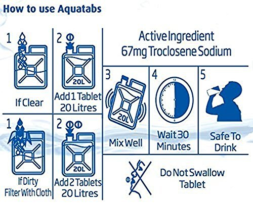 100 Pack - World's #1 Water Purification Tablets - Aquatabs
