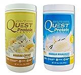 Quest Nutrition Quest Protein gyOakK Powder, Banana Cream/Vanilla Milkshake 2lb Tub (1 of Each)