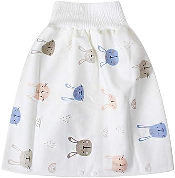 Du/šial Comfy Childrens Diaper Skirt Shorts 2 in 1 Waterproof Leak-Proof Washable Baby Kid Diaper Skirt Pants