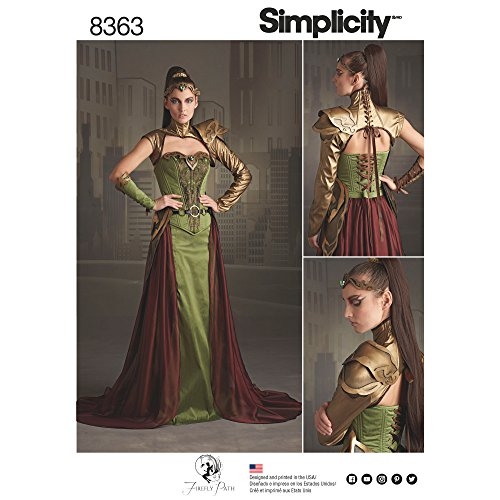 Simplicity Pattern 8363 H5 Misses' Fantasy Ranger Costume by Firefly Path, Size 6-8-10-12-14 -
