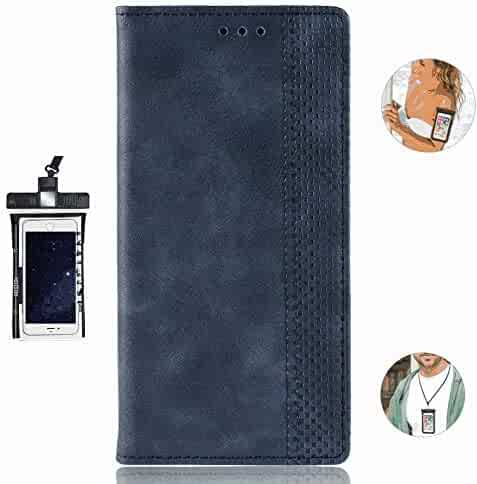 Samsung Galaxy A80 Flip Case, Cover for Samsung Galaxy A80 Leather Luxury Business Cell Phone case Card Holders Kickstand with Free Waterproof-Bag Classical
