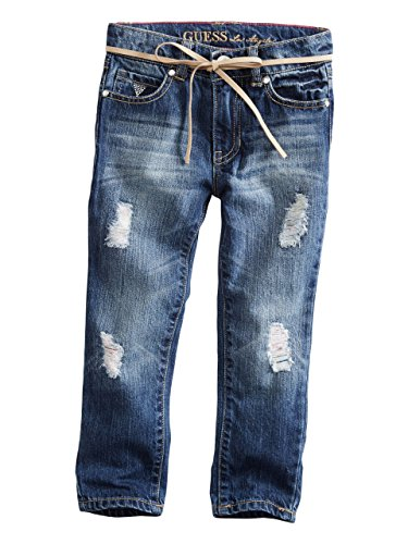 GUESS Kids Little Girl Daredevil Distressed Skinny Jeans (2-6x)