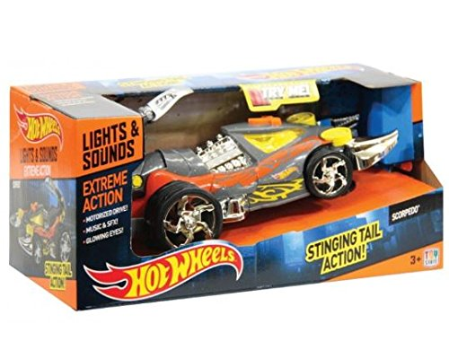 Toystate Hot Wheels Cars with Lights, Sounds and movimientoextreme Action Scorpedo ()