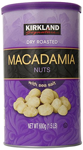 Kirkland Dry Roasted Macadamia Nuts with Sea Salt 680g (1.5 LB) Macadamia Nut