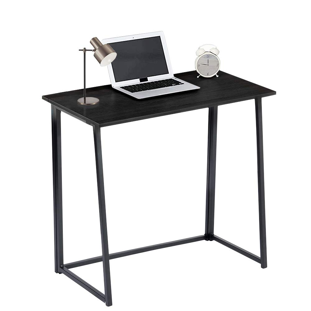 GreenForest Folding Desk for Small Splaces Home Office, Computer Table Writing Desk Small Office Desk, Black Kewlife