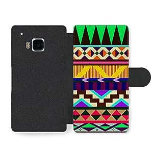 Aztec Mayan Hipster Pattern Funda Cuero Sintético para HTC One M9