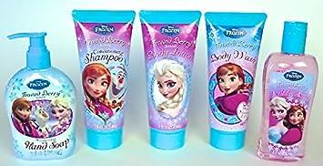 Disney Frozen Bathroom Soap Set Of 5 (1 Bubble Bath, 1 Body Wash,