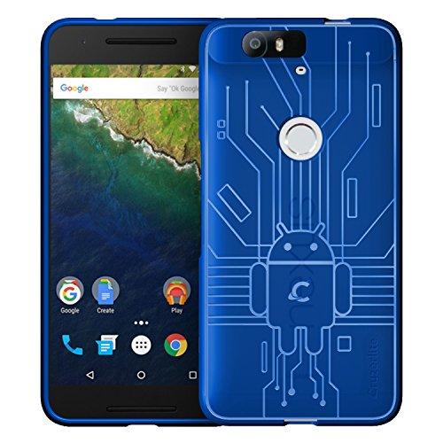 Huawei Nexus 6P Case, Cruzerlite Bugdroid Circuit Case Compatible for Huawei Nexus 6P - Retail Packaging - Blue