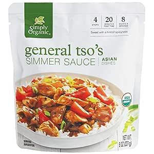 Simply Organic General Tso's Simmer Sauce, Certified Organic | 8 oz