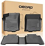 oEdRo Floor Mats Compatible for 2016-2017 Toyota Tacoma Double Cab, Automatic Only, All Weather Guard 1st and 2nd Row Liners