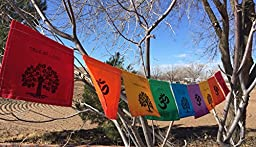 Tree of Life, OM, Namaste Prayer Flag. All proceeds to families in Mexico. Free domestic shipping.