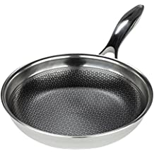 Frieling USA Black Cube Hybrid Stainless/Nonstick Cookware Fry Pan, 8-Inch