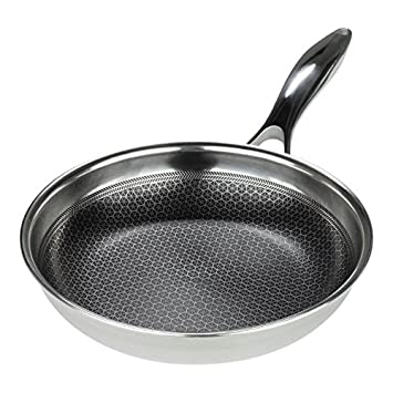Frieling USA Black Cube Hybrid Stainless/Nonstick Cookware Fry Pan, 8-Inch BC120