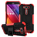 Asus Zenfone 2 Laser ZE500KL Case,Yaker Shockproof Impact Protection Tough Rugged Dual Layer Protective Case Cover with Kickstand for Asus Zenfone2 Laser 5.0 ZE500KL (Armor Red)
