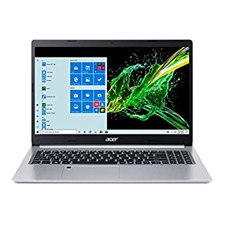 "Acer Aspire 5 A515-55-56VK, 15.6"" Full HD IPS Display, 10th Gen Intel Core i5-1035G1, 8GB DDR4, 256GB NVMe SSD, WiFi 6, HD Webcam, Fingerprint Reader, Backlit Keyboard, Windows 10 Home"