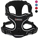 Dog Harness No-Pull Pet Harness Adjustable Outdoor Pet Vest 3M Reflective Oxford Material Vest for Dogs Easy Control for Small Medium Large Dogs(Black,M)