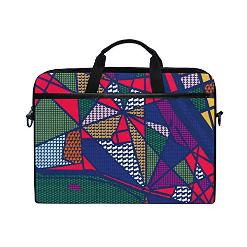 DJROW Rich Jewel Tone Stripe Pattern Sleeve Case Cover Laptop Shoulder Briefcase Bag for 15-15.4 Inch Laptop Notebook