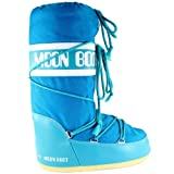 Womens Tecnica Moon Boot Nylon Warm Winter Waterproof Snow Boots - Turquoise 7-8.5 | amazon.com