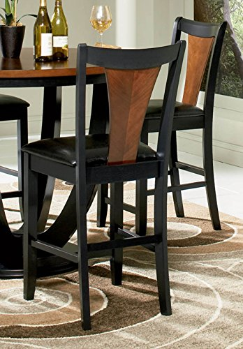 Boyer Two-tone Counter Stools Amber and Black Set of 2