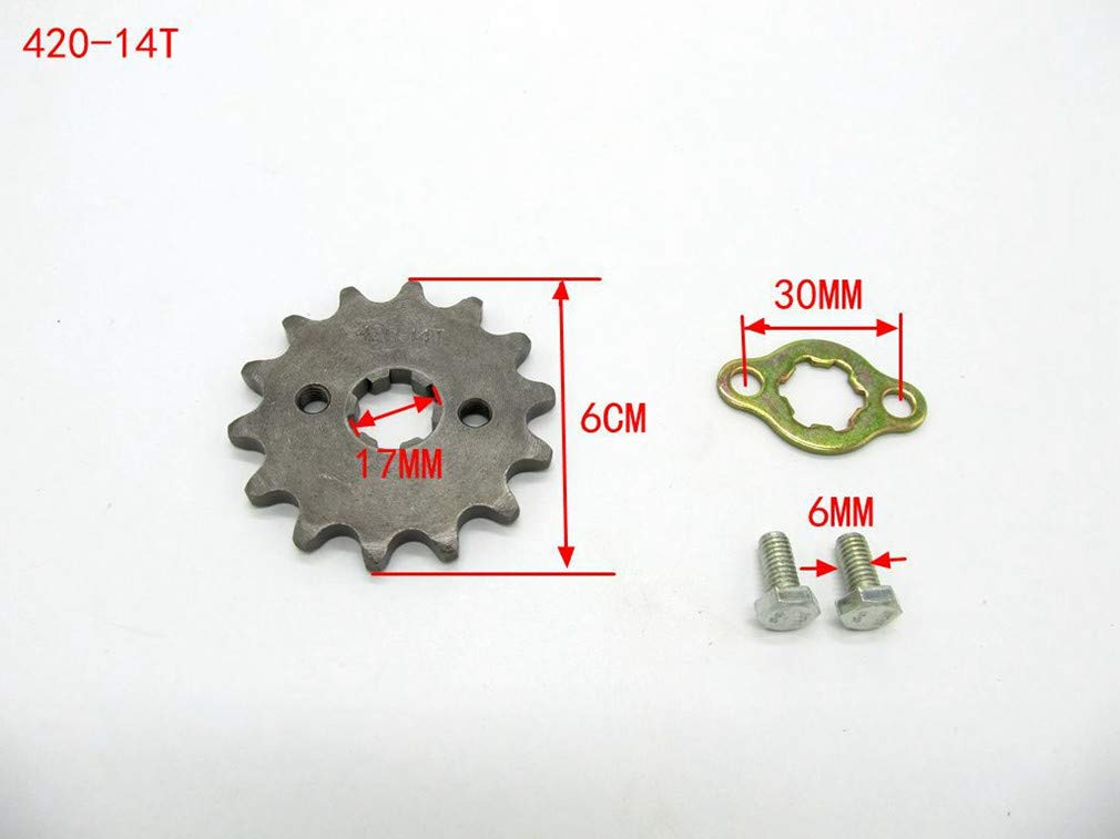 Amyli Sprocket Front 420-14T 17mm for Motorcycle ATV Dirtbike