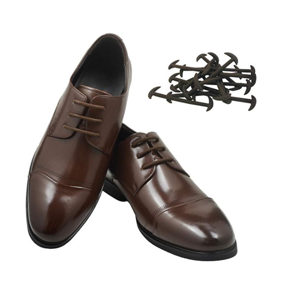 FJROnline Cordones el/ásticos encerados redondos para zapatos de vestir cordones de silicona delgados
