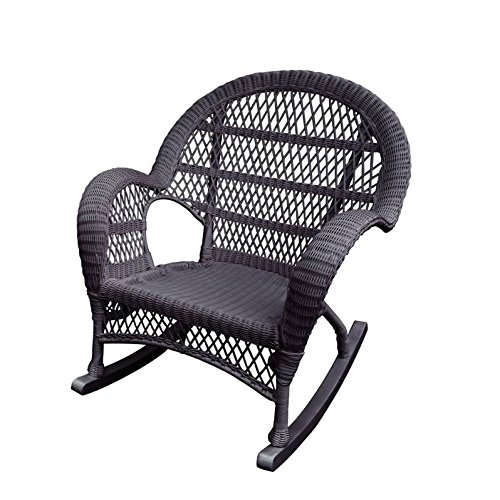 Jeco Rocker Wicker Chair in Espresso Review