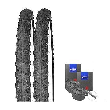 Set: 2 x Schwalbe Hurricane Semi Slick MTB neumáticos 29 x 2.00 + Schwalbe Reticulado Válvula de Carreras: Amazon.es: Deportes y aire libre