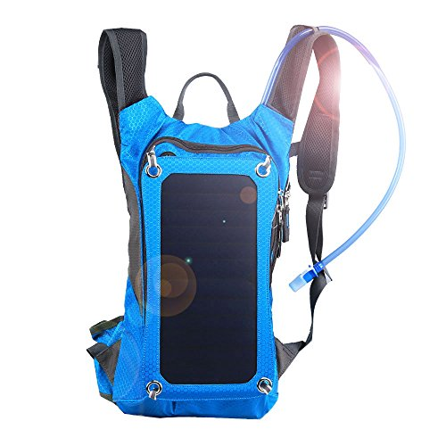 Pomelo Best Hydration Pack with Solar Panel, 1.5L BPA Free Bladder, Color Blue