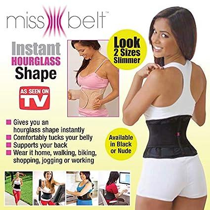 e512b06717233 Amazon.com  Miss Belt Instant Hourglass Shaper Black S M  Sports   Outdoors