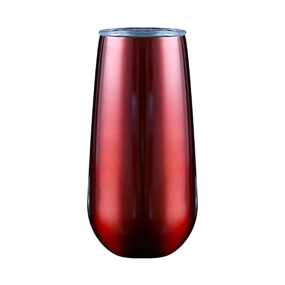 Vinjeely 6OZ Stainless Steel Stemless Wine Drinking Water Cup Double Wall Vaccum Jar