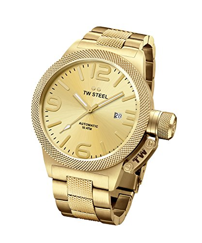 TW Steel Men's Canteen Automatic Watch with Analogue Display Bracelet Gold
