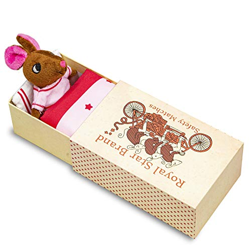 Foothill Toy Co. Matchbox Mouse - Playset with Plush Toy Mouse in a Box, Millie